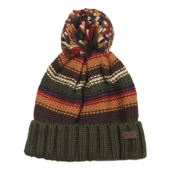 Barbour Lifestyle Mens Green Harrow Stripe Beanie main image