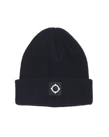 Ma.Strum Mens Blue Merino Icon Watch Hat