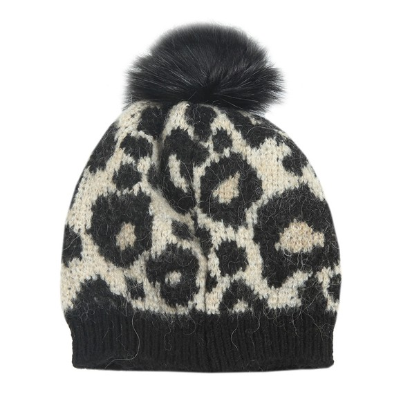 Superdry Womens Brown Lisa Leopard Beanie main image