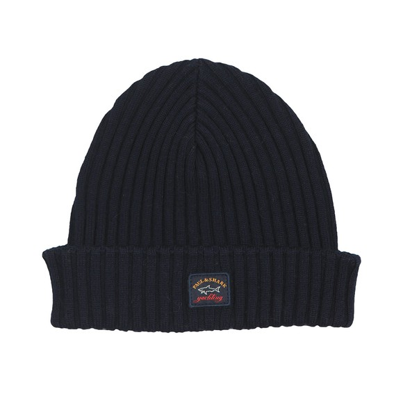 Paul & Shark Mens Blue Watershed Knitted Hat