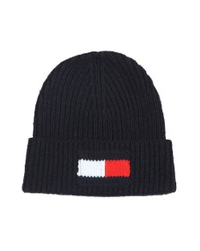 Tommy Hilfiger Mens Blue Flag Beanie