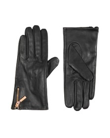 Barbour International Womens Black Garrow Leather Glove