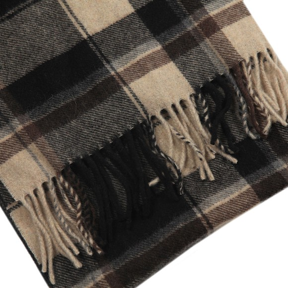 Eton Mens Brown Large Check Scarf main image