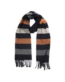 Eton Mens Blue Block Stripe Scarf