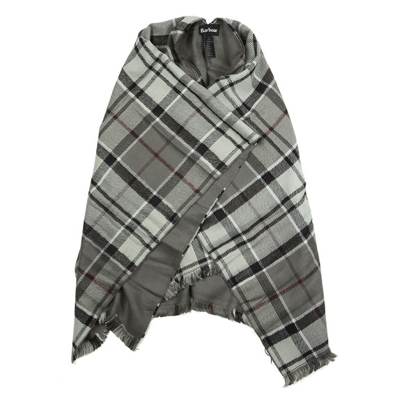 Barbour Lifestyle Womens Grey Lomand Tartan Serape