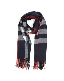 Barbour Lifestyle Womens Blue Skye Check Scarf
