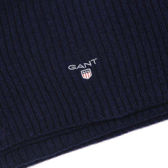 Gant Mens Blue Wool Knit Scarf main image