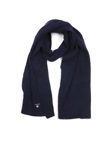 Gant Mens Blue Wool Knit Scarf
