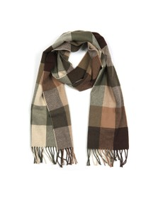 Gant Mens Brown Multi Check Scarf