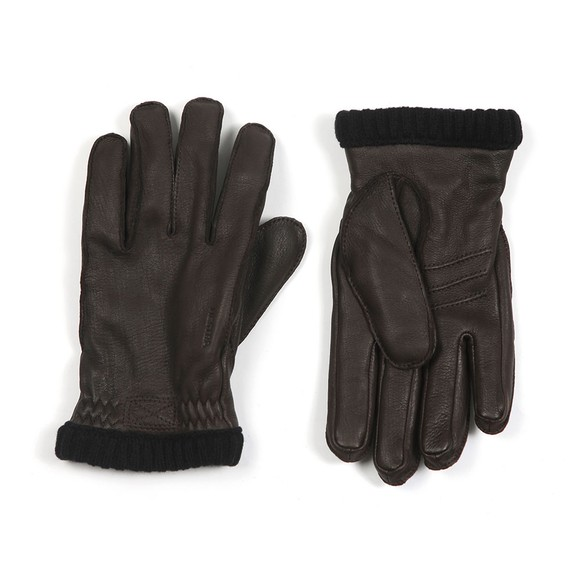 Hestra Mens Brown Deerskin Primaloft Rib Gloves