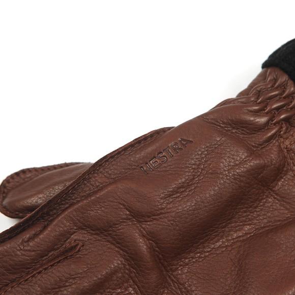 Hestra Mens Brown Deerskin Primaloft Rib Gloves main image