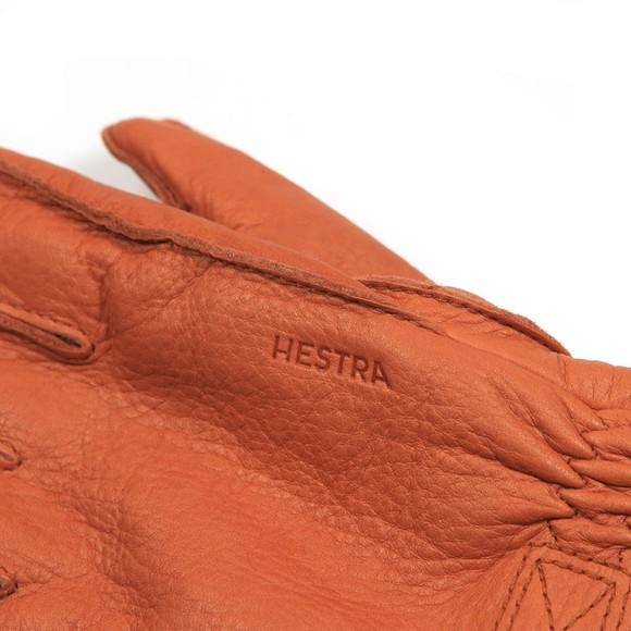 Hestra Mens Brown Deerskin Primaloft Rib Gloves