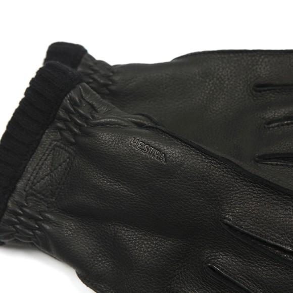 Hestra Mens Black Deerskin Primaloft Rib Gloves