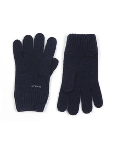 Gant Mens Blue Knitted Wool Gloves