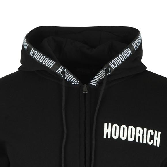 Hoodrich Mens Black Tape Zip Hoodie main image