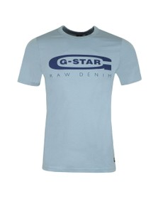 G-Star Mens Blue Graphic 4 Slim T-Shirt