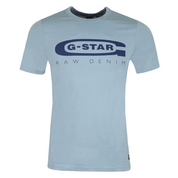 G-Star Mens Blue Graphic 4 Slim T-Shirt main image
