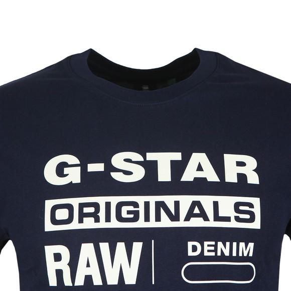 G-Star Mens Blue Graphic Logo T-Shirt main image