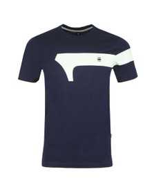 G-Star Mens Blue Graphic 13 T-Shirt