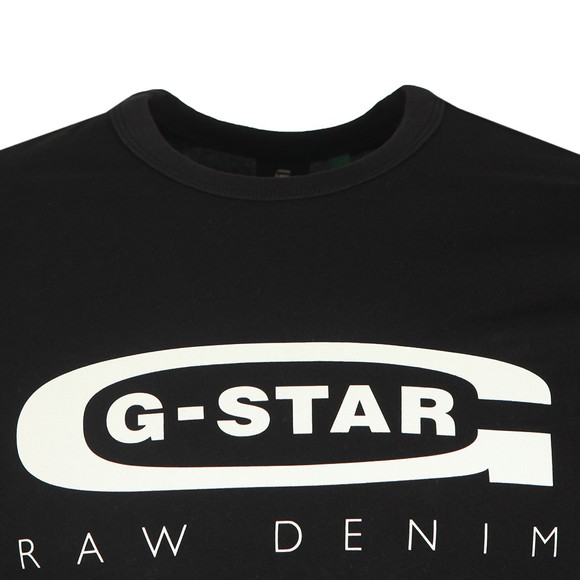 G-Star Mens Black Graphic 4 Slim T-Shirt main image