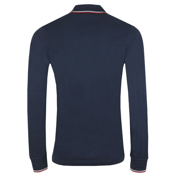 Pretty Green Mens Blue L/S Tipped Polo Shirt main image