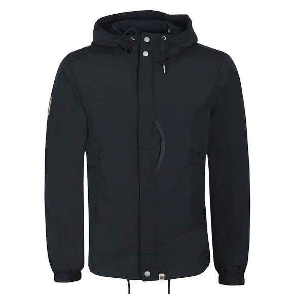 Pretty Green Mens Blue Zip Through Nylon Jacket main image