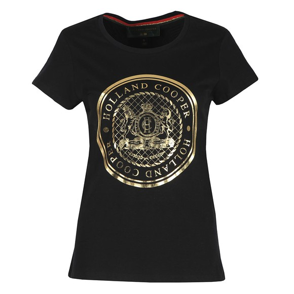 Holland Cooper Womens Black Sportswear Luxe Crest Tee main image