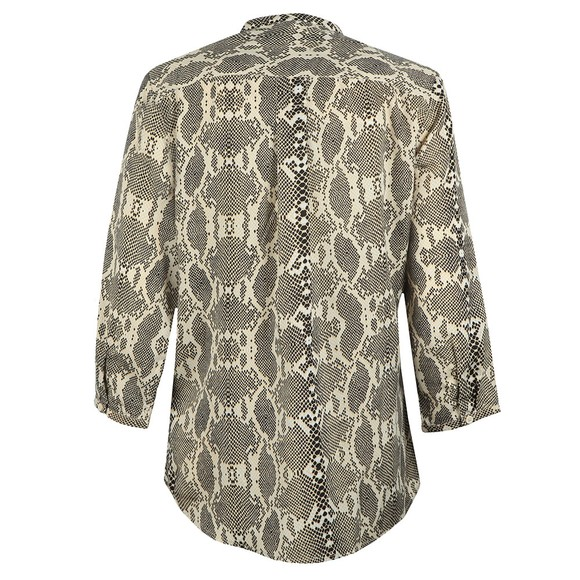 French Connection Womens Black Snake Print Collarless Shirt main image
