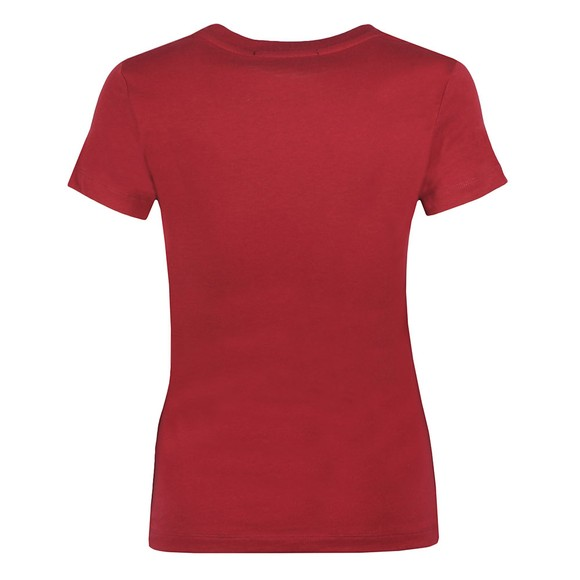 Calvin Klein Jeans Womens Red Institutional Logo T Shirt main image