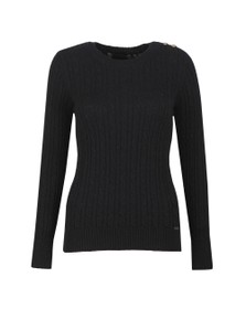 Superdry Womens Blue Croyde Cable Knit Jumper