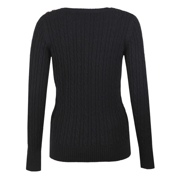 Superdry Womens Blue Croyde Cable Knit Jumper main image