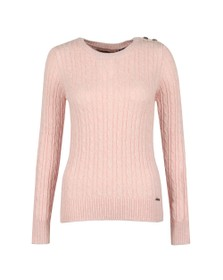 Superdry Womens Pink Croyde Cable Knit Jumper