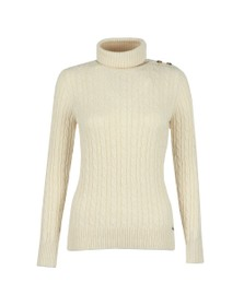 Superdry Womens Off-White Croyde Cable Roll Neck Jumper