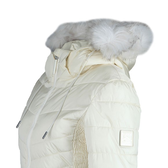 Superdry Womens White Luxe Fuji Jacket