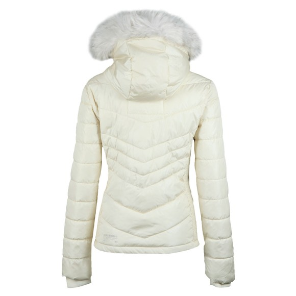 Superdry Womens White Luxe Fuji Jacket main image