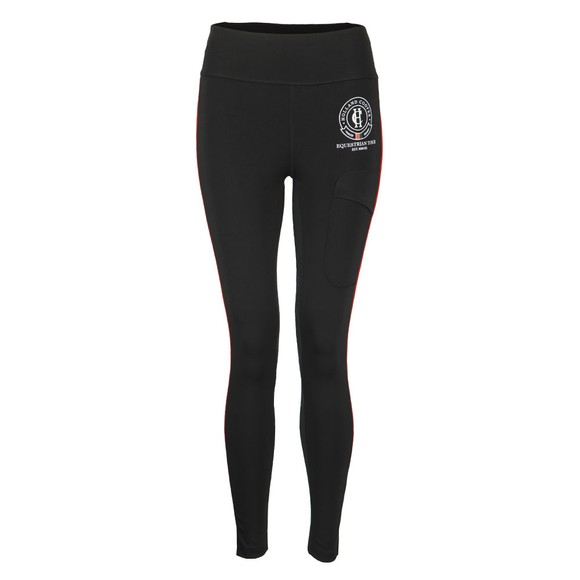 Holland Cooper Womens Black Heritage Equi Legging