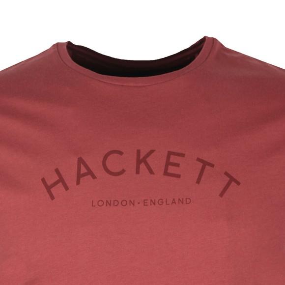 Hackett Mens Pink Classic Logo T-Shirt main image