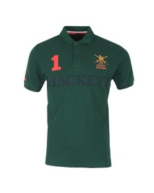 Hackett Mens Green Army NBR Polo Shirt