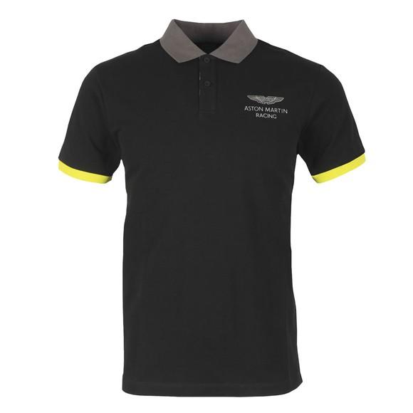 Hackett Mens Black AMR HKT UCLLR Polo Shirt