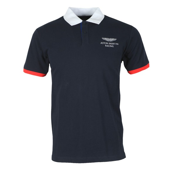 Hackett Mens Blue AMR HKT UCLLR Polo Shirt