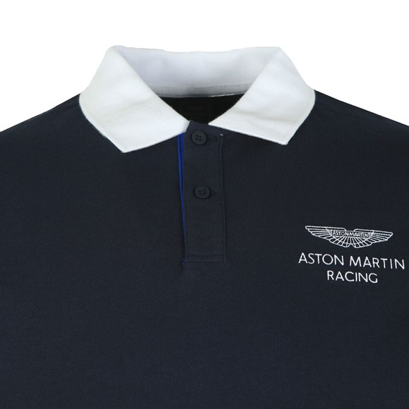 Hackett Mens Blue AMR HKT UCLLR Polo Shirt main image