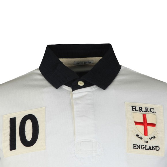 Hackett Mens White England Rugby Polo Shirt main image