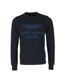 Hackett Mens Blue AMR Print Crew Sweatshirt