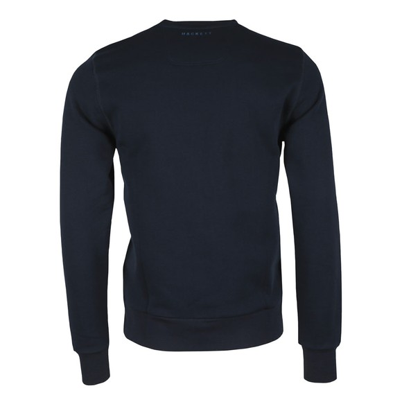 Hackett Mens Blue AMR Print Crew Sweatshirt main image