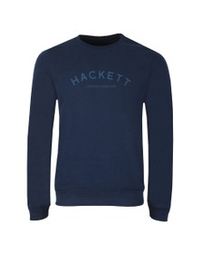 Hackett Mens Blue Classic Logo Crew Sweatshirt