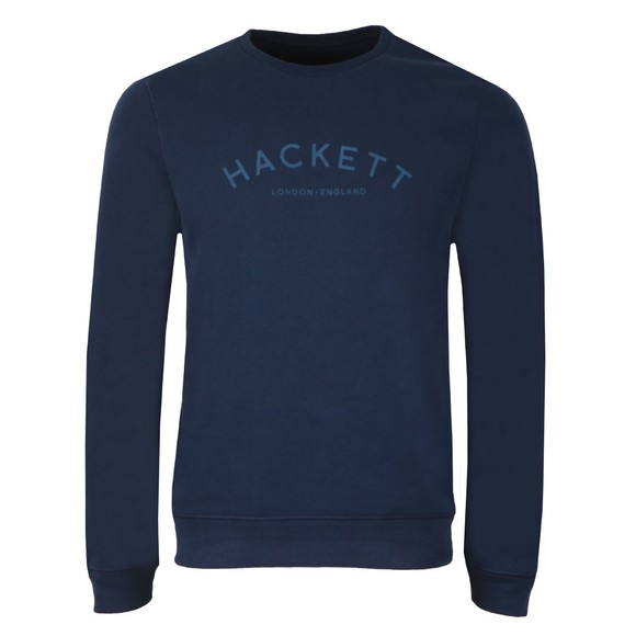 Hackett Mens Blue Classic Logo Crew Sweatshirt main image