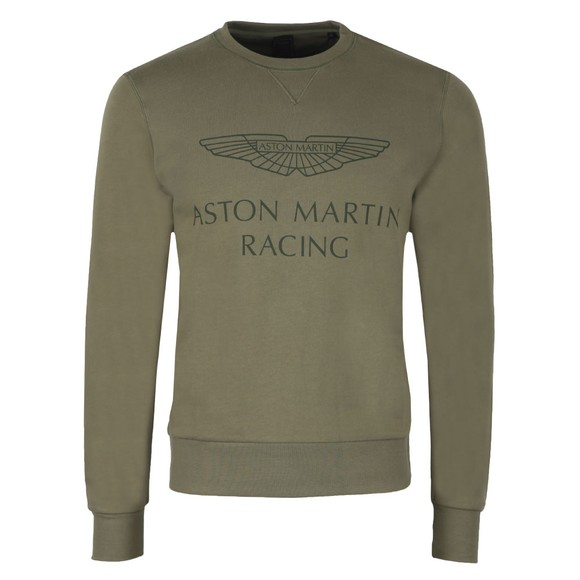 Hackett Mens Green AMR Print Crew Sweatshirt main image