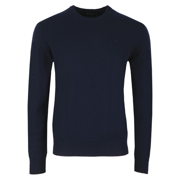 Hackett Mens Blue Lambswool Crew Jumper main image