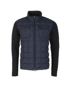 Hackett Mens Blue Hybrid Nylon Knit Jacket