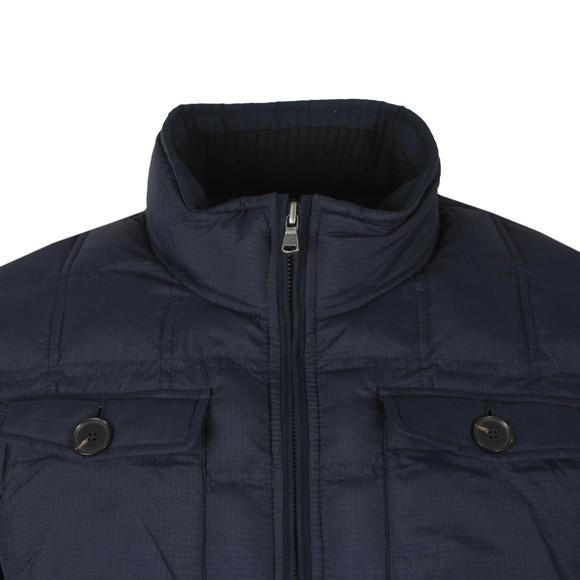 Hackett Mens Blue Hybrid Nylon Knit Jacket main image